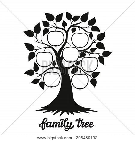 Family Tree Illustration With A Title