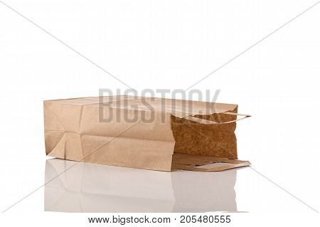 paper bag isolated on a white background