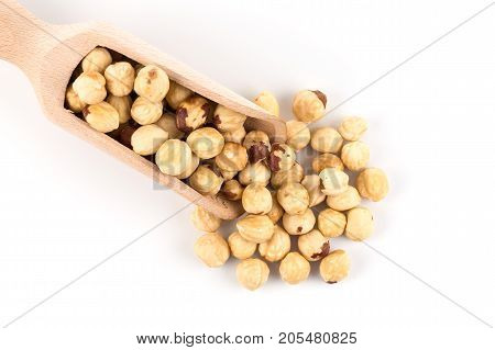 Closeup View Of Hazelnuts
