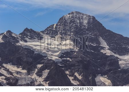 Lauterbrunnen Breithorn mountain in summer Bernese Alps Bernese Oberland Switzerland