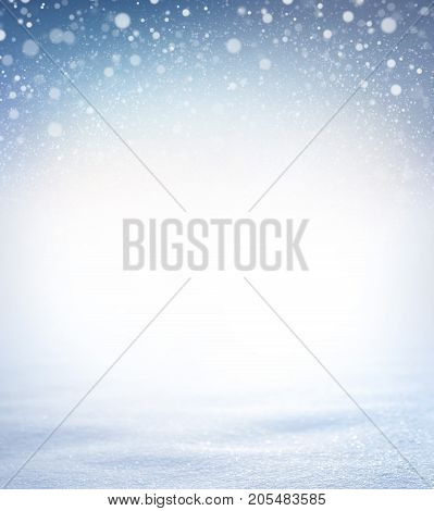 Snowfall on a snow covered ground - Winter material
