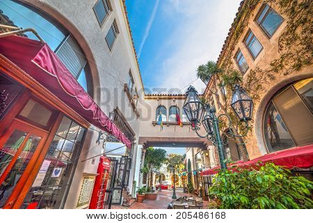 Shopping center in Santa Barbara in California