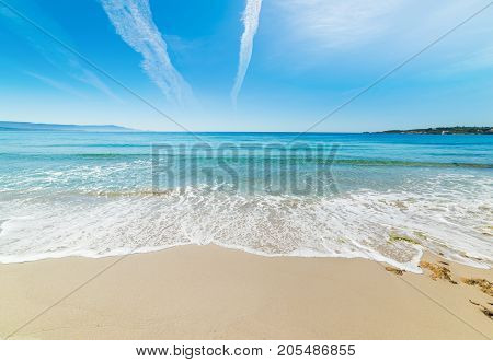 White sand in Le Bombarde beach Sardinia
