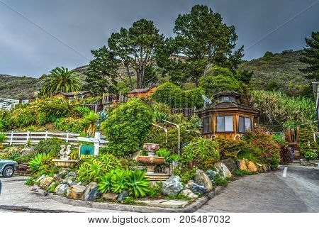 Picturesque lodge in Big Sur State park California