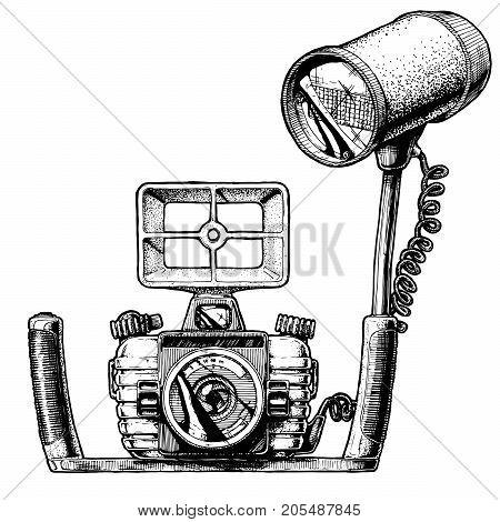 Illustration Of Underwater Camera