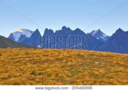 landscape view in mountainous terrain in Georgia