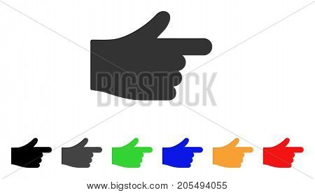Index Hand icon. Vector illustration style is a flat iconic index hand symbol with black, grey, green, blue, yellow color variants. Designed for web and software interfaces.