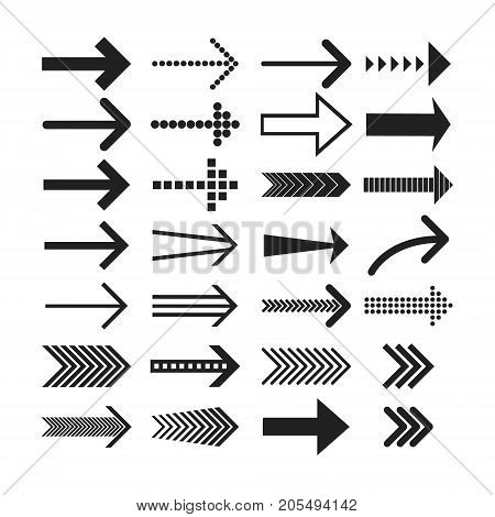 Linear Arrow icons set. Universal Arrow icon to use in web and mobile UI, Arrow basic UI elements set