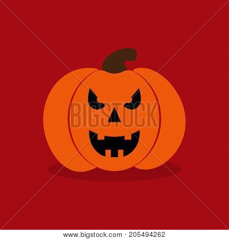 pumpkin for halloween on red background creepy pumpkin for halloween party