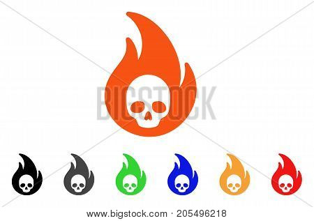 Hellfire icon. Vector illustration style is a flat iconic hellfire symbol with black, grey, green, blue, red, orange color additional versions. Designed for web and software interfaces.