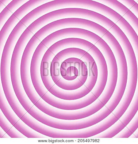 Pink and white spiral vector hypnothic background.