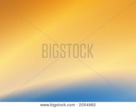 Abstract Sunrise Over The Earth