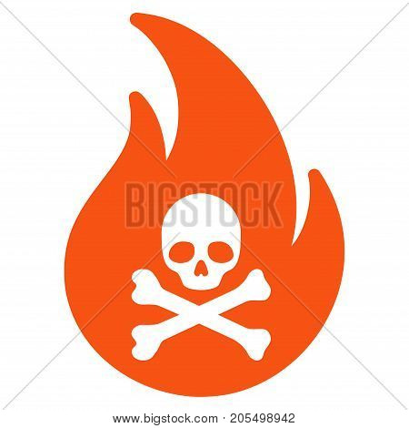 Hell Fire flat vector illustration. An isolated illustration on a white background.