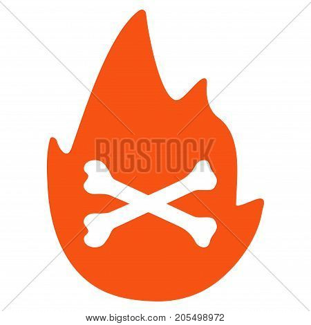 Hellfire Flame flat vector pictograph. An isolated illustration on a white background.