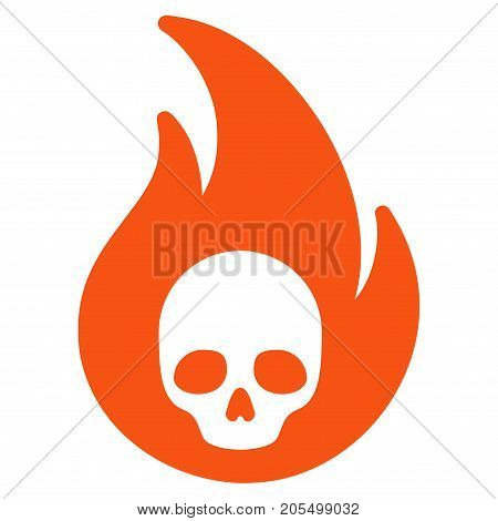 Hellfire flat vector pictograph. An isolated illustration on a white background.
