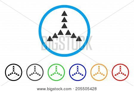 Outside Direction rounded icon. Style is a flat outside direction gray symbol inside light blue circle with black, gray, green, blue, red, orange variants.