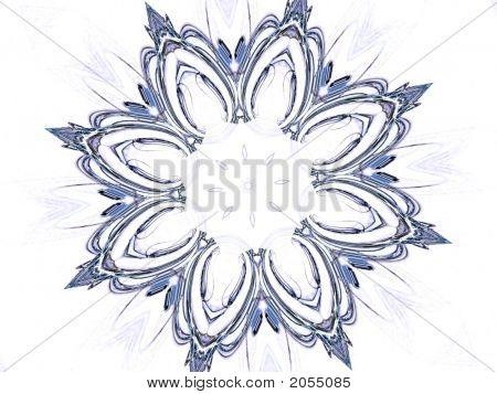 Sketchy Flower On White