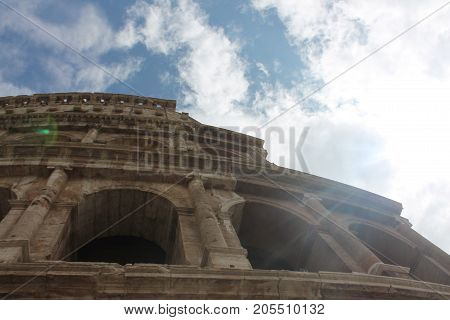 The Roman Coliseum on a Sunny Day