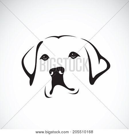 Vector of a dog head(Labrador Retriever) on white background Pet. Animals.