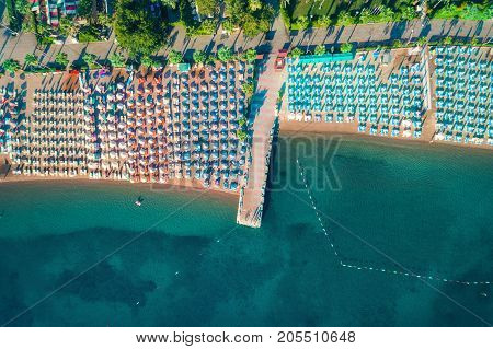 Aerial View Of Transparent Turquoise Sea
