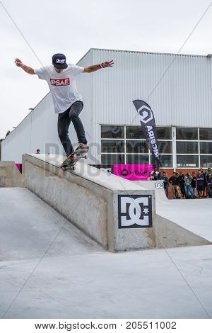 Daniel Ferreira During The 4Th Stage Dc Skate Challenge