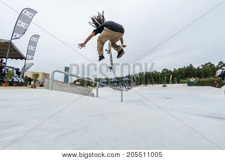 Matheus Freitas During The 4Th Stage Dc Skate Challenge