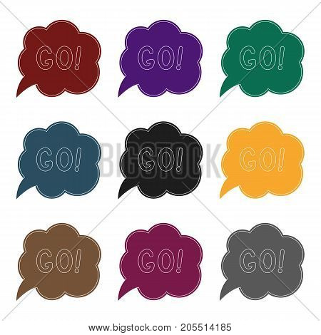 Go in the cloud.Fans single icon in black  vector symbol stock illustration.