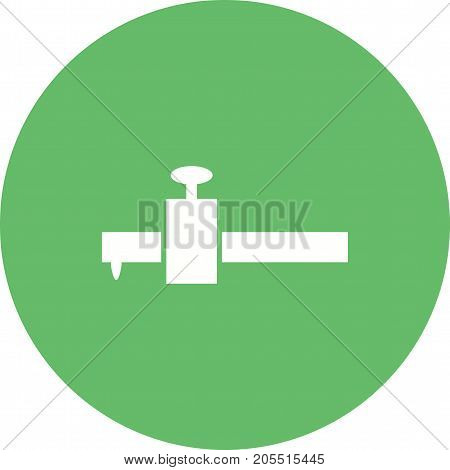 Wood, gauge, scribe icon vector image. Can also be used for Hand Tools. Suitable for use on web apps, mobile apps and print media.