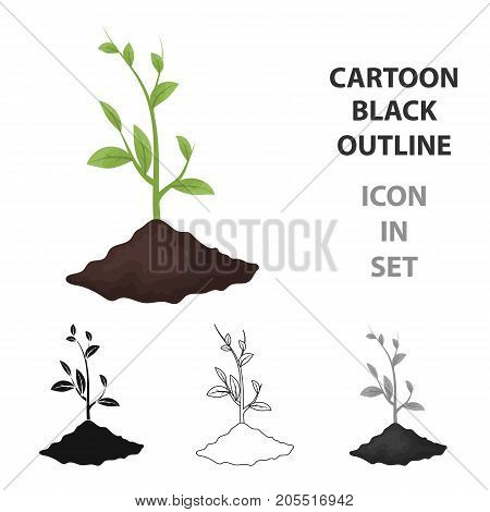 Sprout icon in outline design isolated on white background. Bio and ecology symbol stock vector illustration.