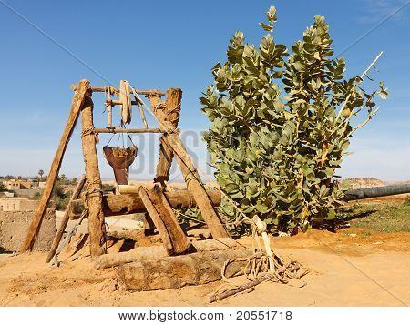 Ancient Desert Well In The Sahara Desert