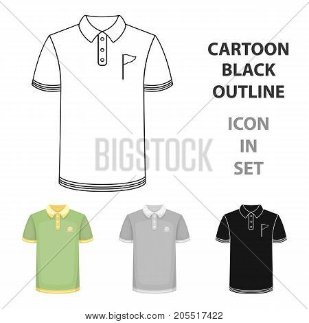 Uniform shirt for golf.Golf club single icon in cartoon style vector symbol stock illustration .