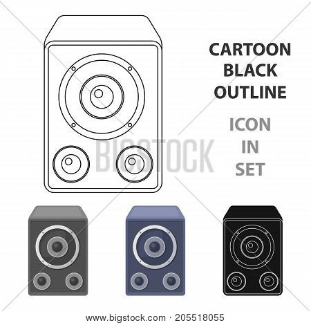 Subwoofer for loud music.Party and parties single icon in cartoon style vector symbol stock web illustration.
