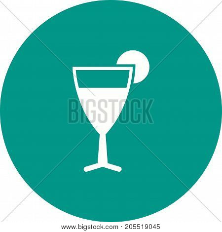 Cocktail, cosmopolitan, lime icon vector image. Can also be used for Cafe and Bar. Suitable for use on mobile apps, web apps and print media.