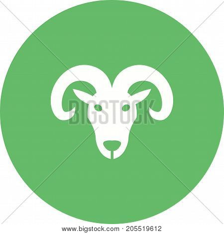 Aries, sign, zodiac icon vector image. Can also be used for Zodiac. Suitable for use on web apps, mobile apps and print media.
