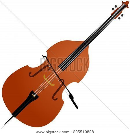 Musical instrument cello. The illustration on a white background.