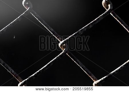 background of old metal grid . Photo of abstract textures