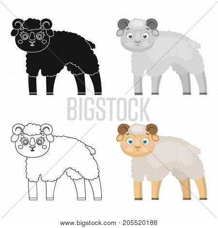 Sheep single icon in cartoon style.Sheep, vector symbol stock illustration .