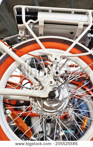 Disc Brake On The Rear Wheel Of Electric Bike