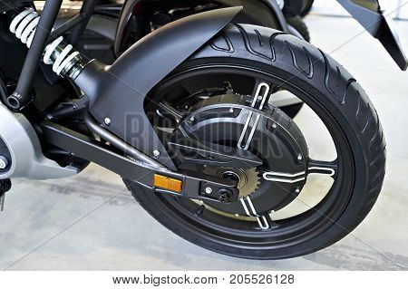 Rear Wheel Electric Motorcycle With Engine Inside