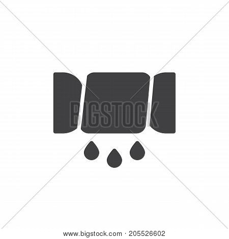 Squeeze line icon, filled flat sign, solid pictogram isolated on white. Symbol, logo illustration.