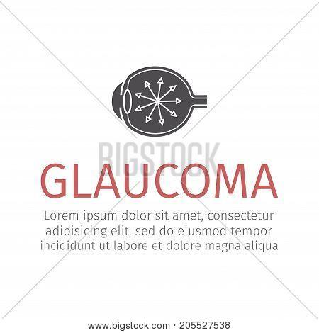Glaucoma. Human eye. Vector sign for web graphics
