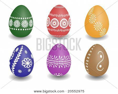 Wax Painted Easter Eggs