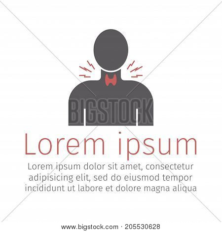 Thyroid gland icon Vector sign for web graphics