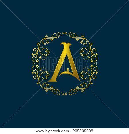 Vintage old style logo icon monogram. Letter A logo. Royal hotel, Premium boutique, Fashion logo, Super logo, VIP logo. S letter logo, Premium quality logo, Lawyer logo.letter A, logo icon eps8,eps10