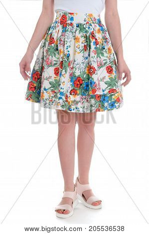 Summer garment with flower pattern. Ease and comfort.
