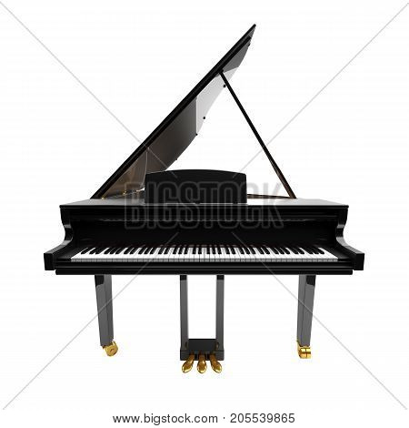 Grand piano isolated on the white background.