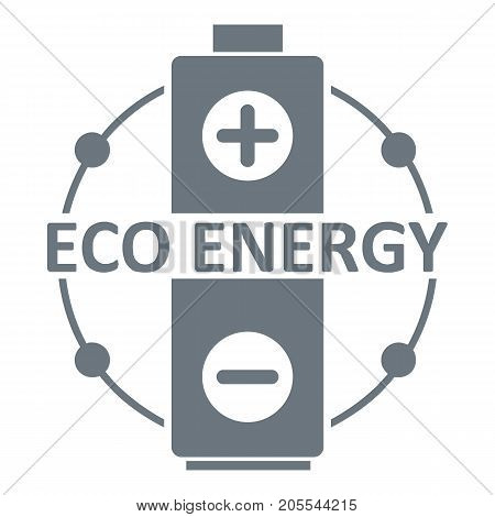 Eco battery logo. Simple illustration of eco battery vector logo for web