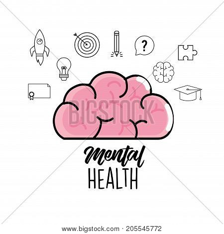mental health to creative process design vector illustration