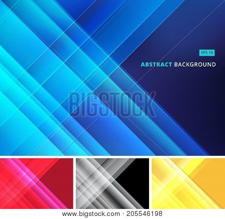 Group abstract image that depicts technology with overlapping diagonal lines. Vector illustration