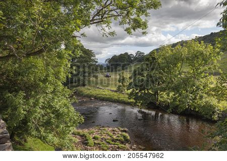 River Wharfe Wharfedale Yorkshire Dales National Park England.